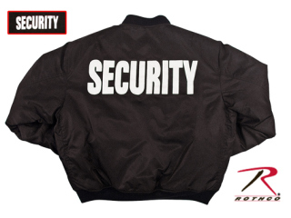 Rothco MA-1 Flight Jacket With Security Print-