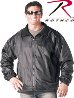 Rothco Black Reversible Fleece-Lined Nylon Jacket-Rothco