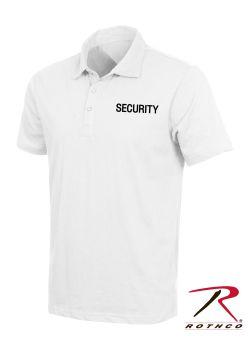 7695 White Security Printed Golf Shirt
