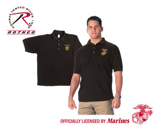 Rothco Military Embroidered Polo Shirts-
