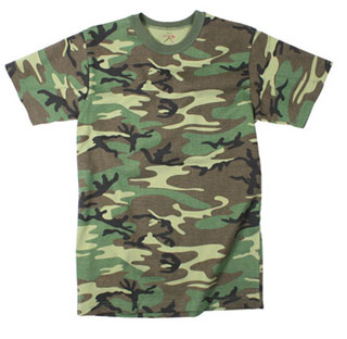 Rothco Childrens Woodland Camo Heavyweight T-Shirt-Rothco