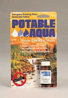 'Potable Aqua'' Water Purification Tablets