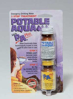 Potable Aqua P.A. Plus 2 Step Water Treatment-Rothco