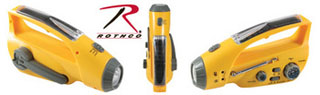 Rothco Solar/Wind Up Flashlight with Radio-
