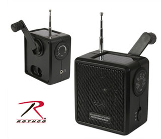 Rothco Solar/Wind Up Radio-