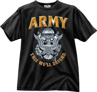 Rothco Black Army Emblem T-Shirt-