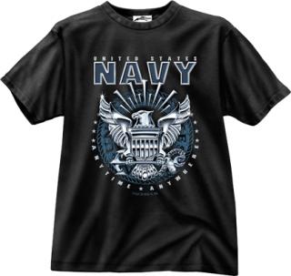 Black Ink Black Navy Emblem T-Shirt-
