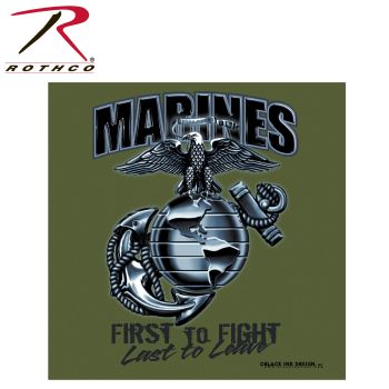Black Ink Marines First To Fight T-Shirt-