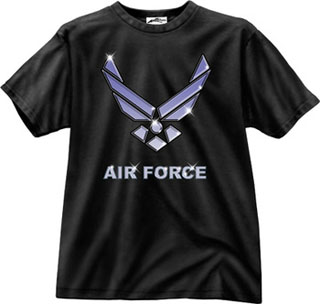 Black Ink Black Air Force T-Shirt-