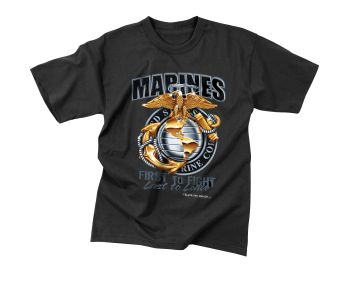 Black Ink Marines First To Fight T-Shirt-Rothco