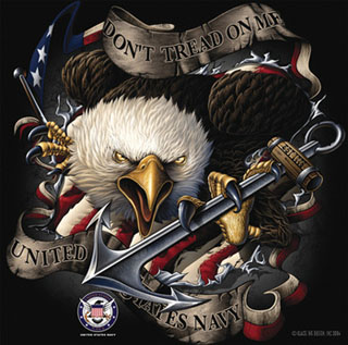 Black Ink U.S. Navy Eagle T-Shirt-