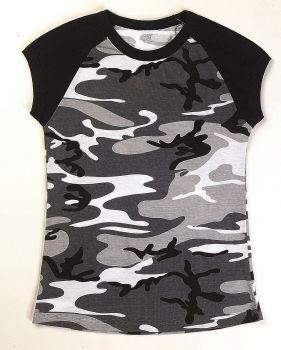 Rothco Short Sleeve Camo Raglan T-Shirt-