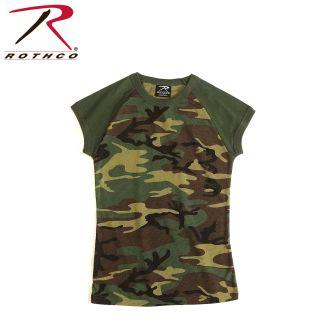 Rothco Short Sleeve Camo Raglan T-Shirt-332581-Rothco