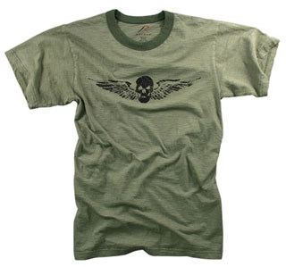 Rothco Vintage Skull & Wing Slub T-Shirt-