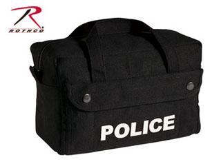 Rothco Canvas Small Black Police Logo Gear Bag-