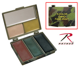 Rothco 5 Color Camo Face Paint - Square Compact-