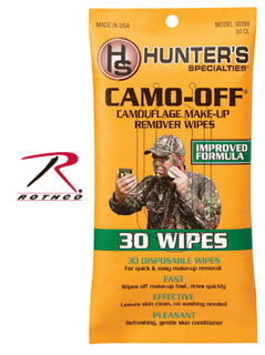 Rothco Pre-moistened Face Paint Remover Wipes-