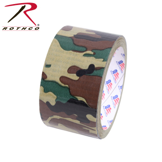 "Rothco 2"" Woodland Camo Duct Tape-"
