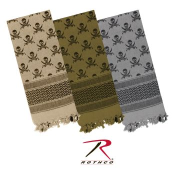 Rothco Skulls Shemagh Tactical Desert Scarf-