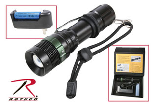 Rothco 3 Watt LED Flashlight With Charger-