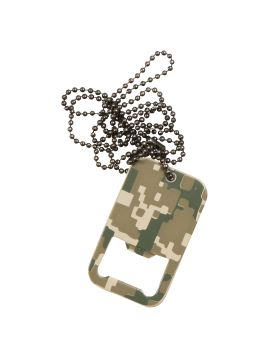 Rothco Dog Tag Bottle Opener With Chain-