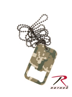 Rothco Dog Tag Bottle Opener With Chain-Rothco