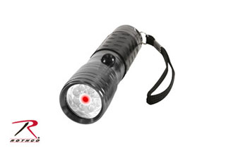 Rothco LED Flashlight w/ Red Laser Pointer-