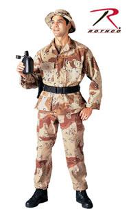 Military BDU Pants Tactical Cargo Camouflage Fatigues Desert Camo Rothco 8835