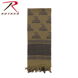 Rothco Gadsden Snake Shemagh Tactical Desert Scarf-