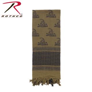Rothco Gadsden Snake Shemagh Tactical Desert Scarf-Rothco