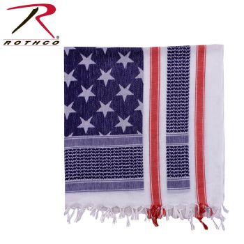 Rothco Stars and Stripes Shemagh Tactical Desert Scarf-Rothco