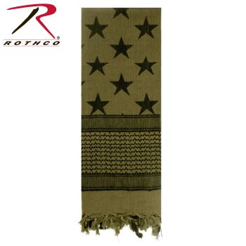 Rothco Stars and Stripes Shemagh Tactical Desert Scarf-