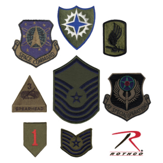 8913_Rothco Subdued Military Assorted Military Patches-