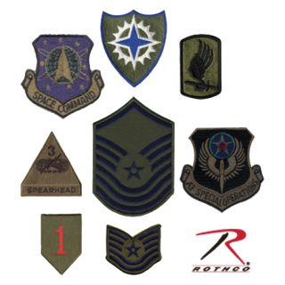 Rothco Subdued Military Assorted Military Patches-