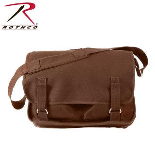 Rothco Canvas European School Bag - Brown