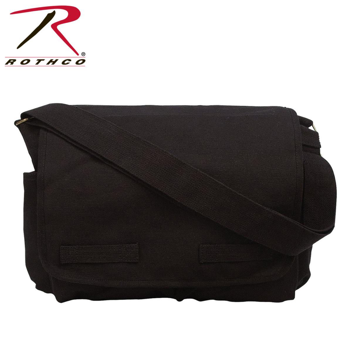 Rothco 9118 The Classic Black Messenger Bag 15/'/' X 11/'/' X 6/'/'