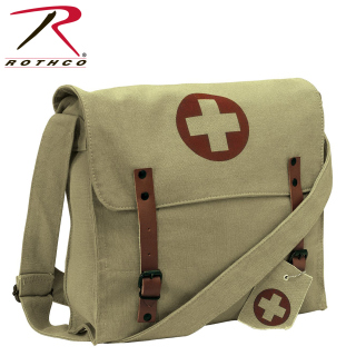 Rothco Vintage Medic Bag With Cross-14467-Rothco