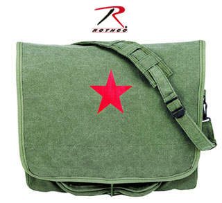 9129_Rothco Vintage Canvas Shoulder Bag With Red Star-