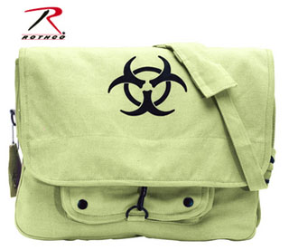 Rothco Vintage Canvas Paratrooper Bag w/ Bio-Hazard Symbol-