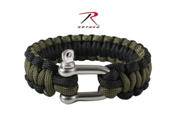 Rothco Paracord Bracelet With D-Shackle-Rothco