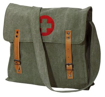 Rothco Vintage Medic Bag With Cross-Rothco