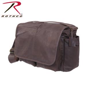 Rothco Brown Leather Classic Messenger Bag-