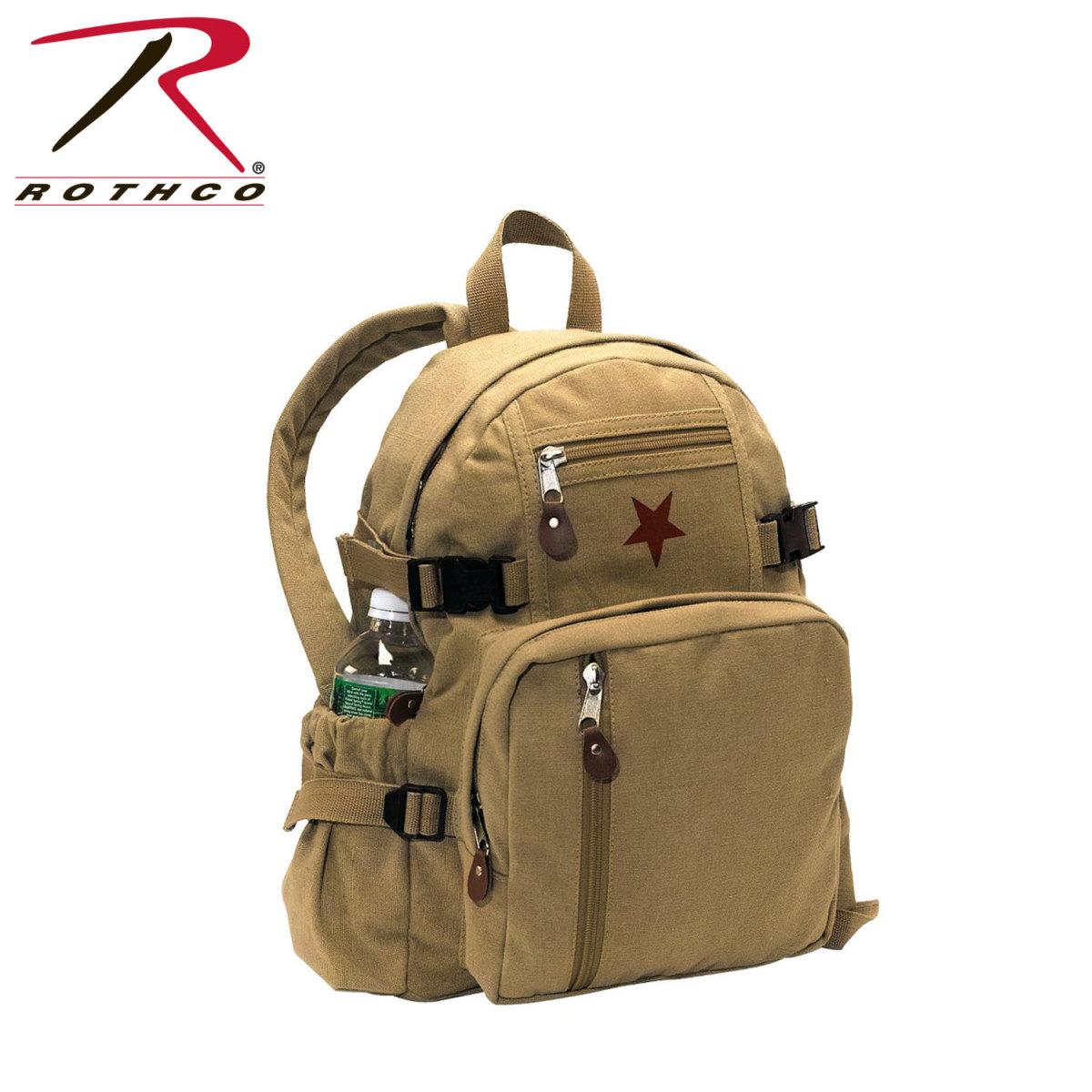 d30dc6ea2 Rothco Vintage Canvas Mini Backpack / Star - Khaki