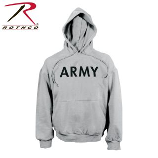 Rothco Army PT Pullover Hooded Sweatshirt-Rothco
