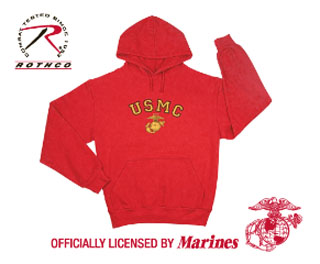 Rothco USMC Globe & Anchor Pullover Hooded Sweatshirt-Rothco