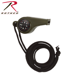Rothco Super Whistle with Compass & Thermometer-14558-Rothco
