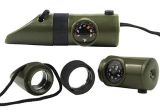 Rothco 6-in-1 LED Survival Whistle Kit-Rothco