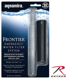 Aquamira Frontier Emergency Water Filtration System-Rothco