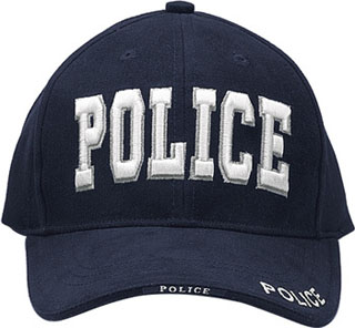 Deluxe Navy Blue Police Low Profile Insignia Cap