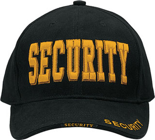 Deluxe Black Security W/gold Low Profile Insignia Cap